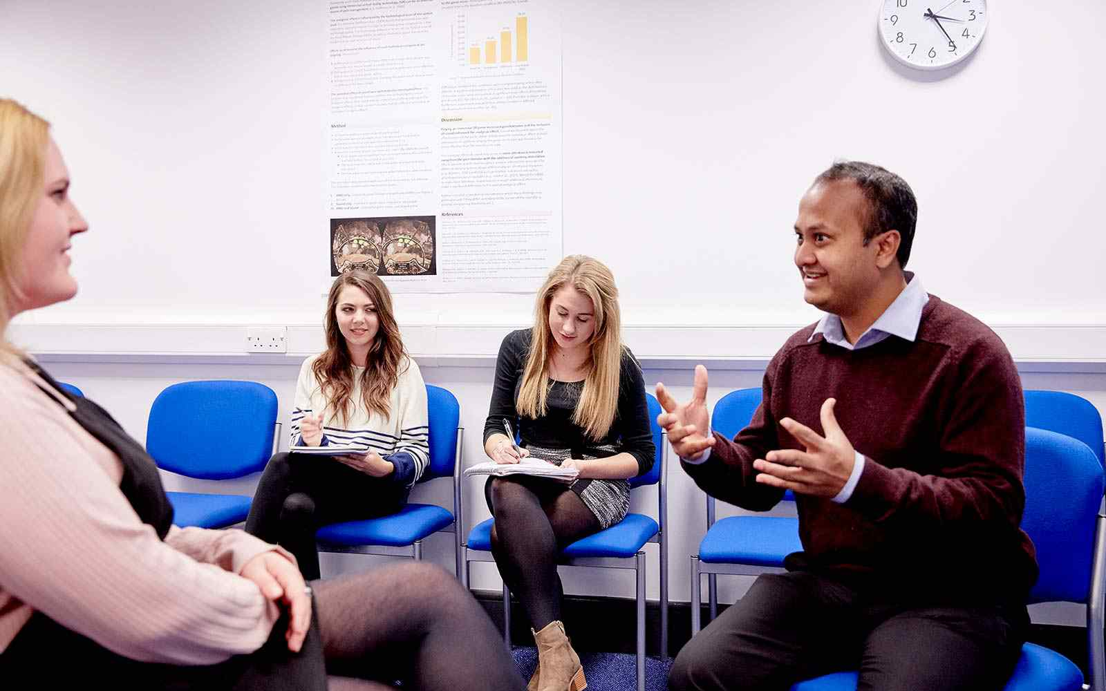 psychology with counselling students in classroom