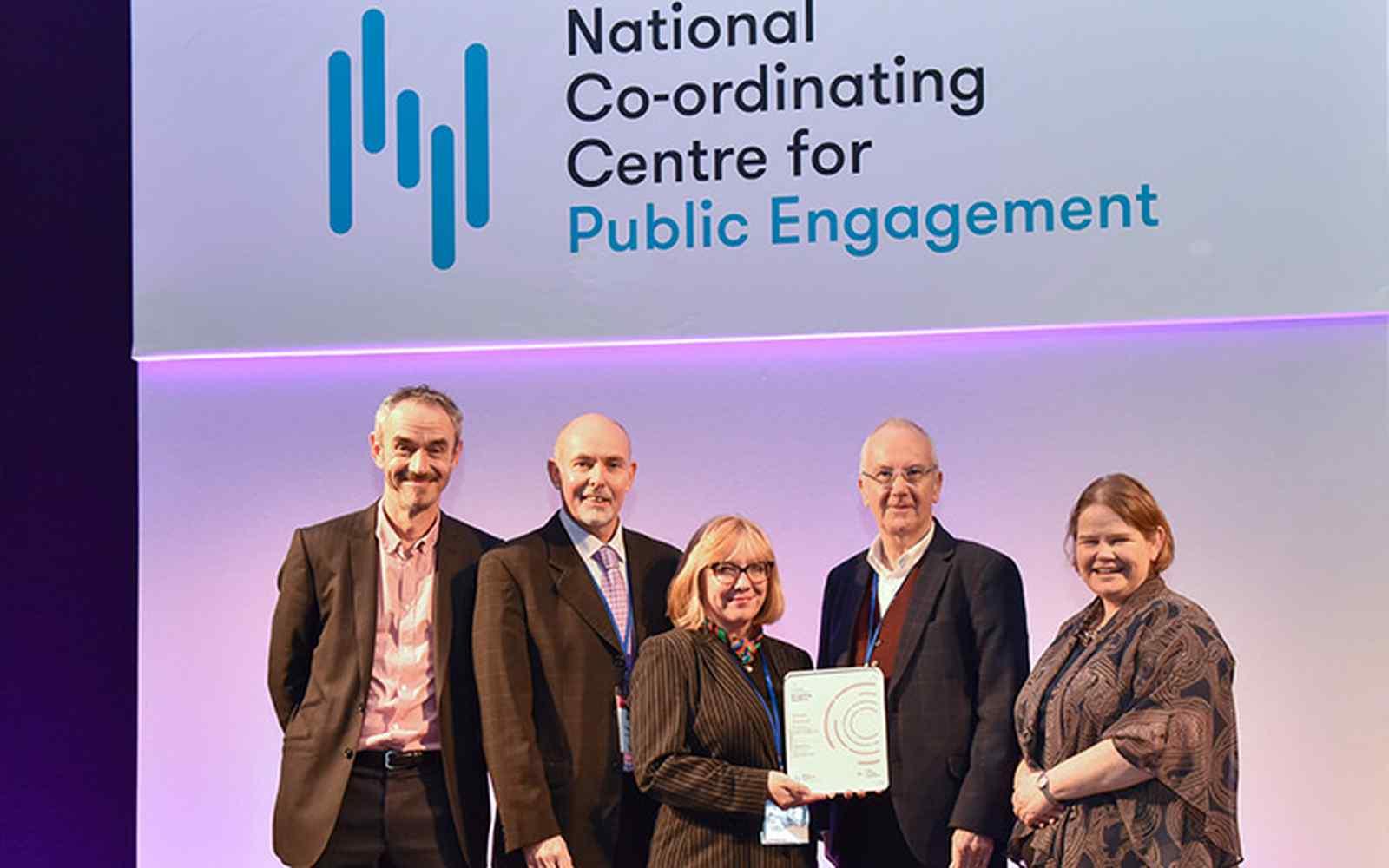 York St John collecting the Public Engagement Award