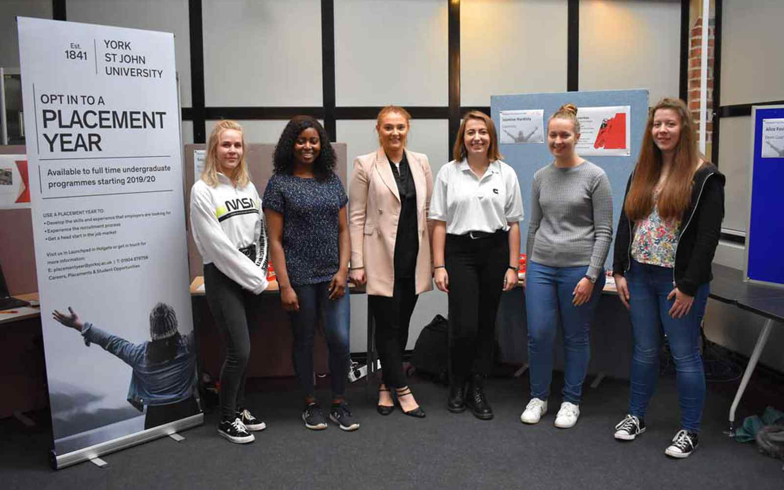 Students at Year in Industry event in Temple Hall