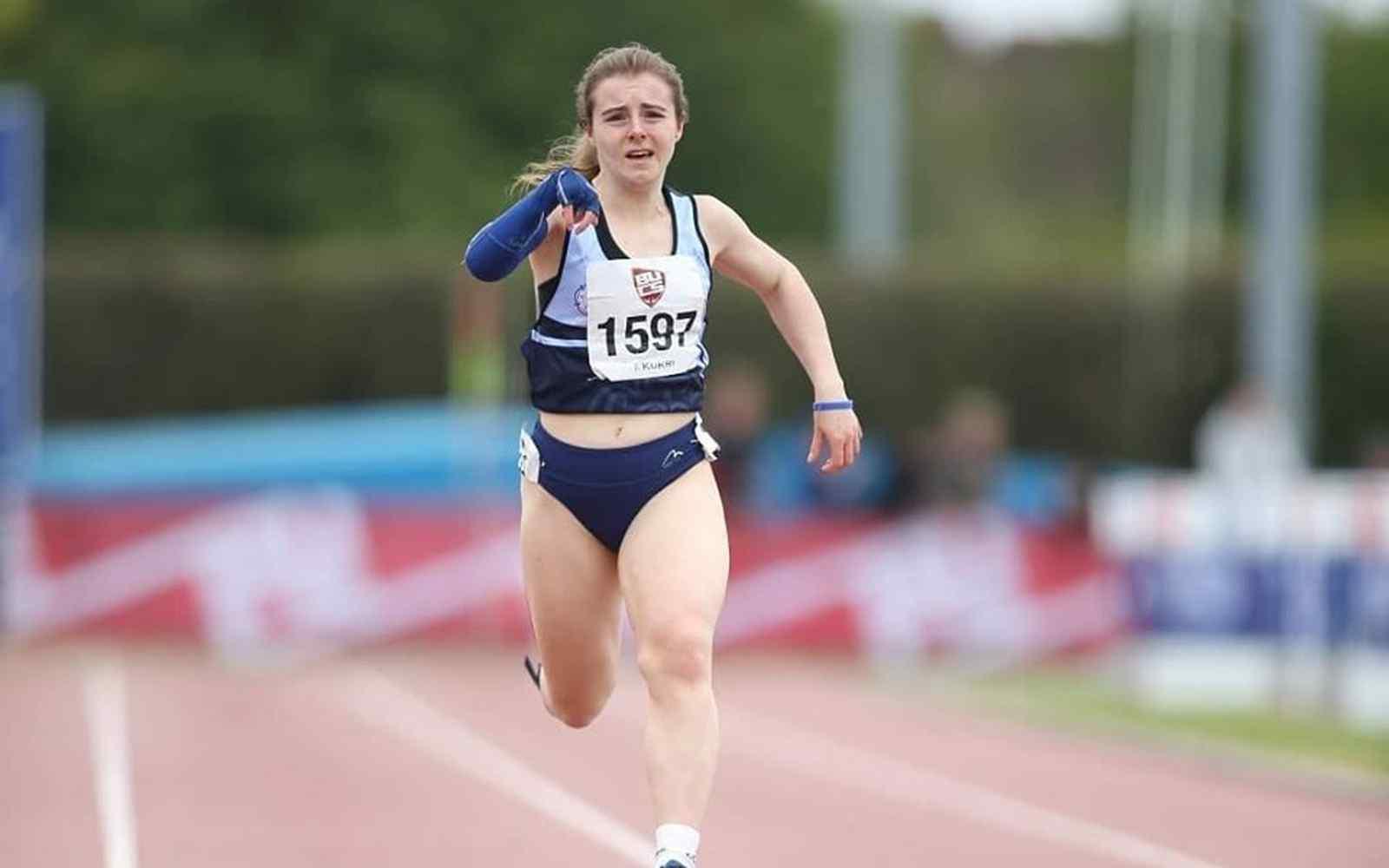Sprinter Amy Carr