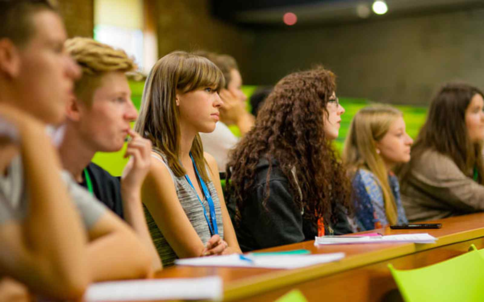 Year 12 students in lecture theatre