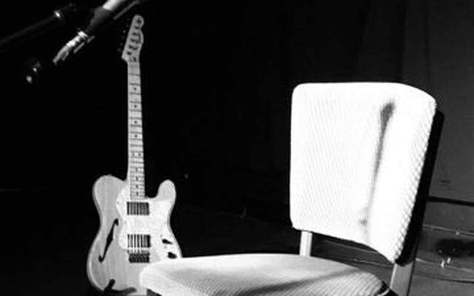Chair with guitar
