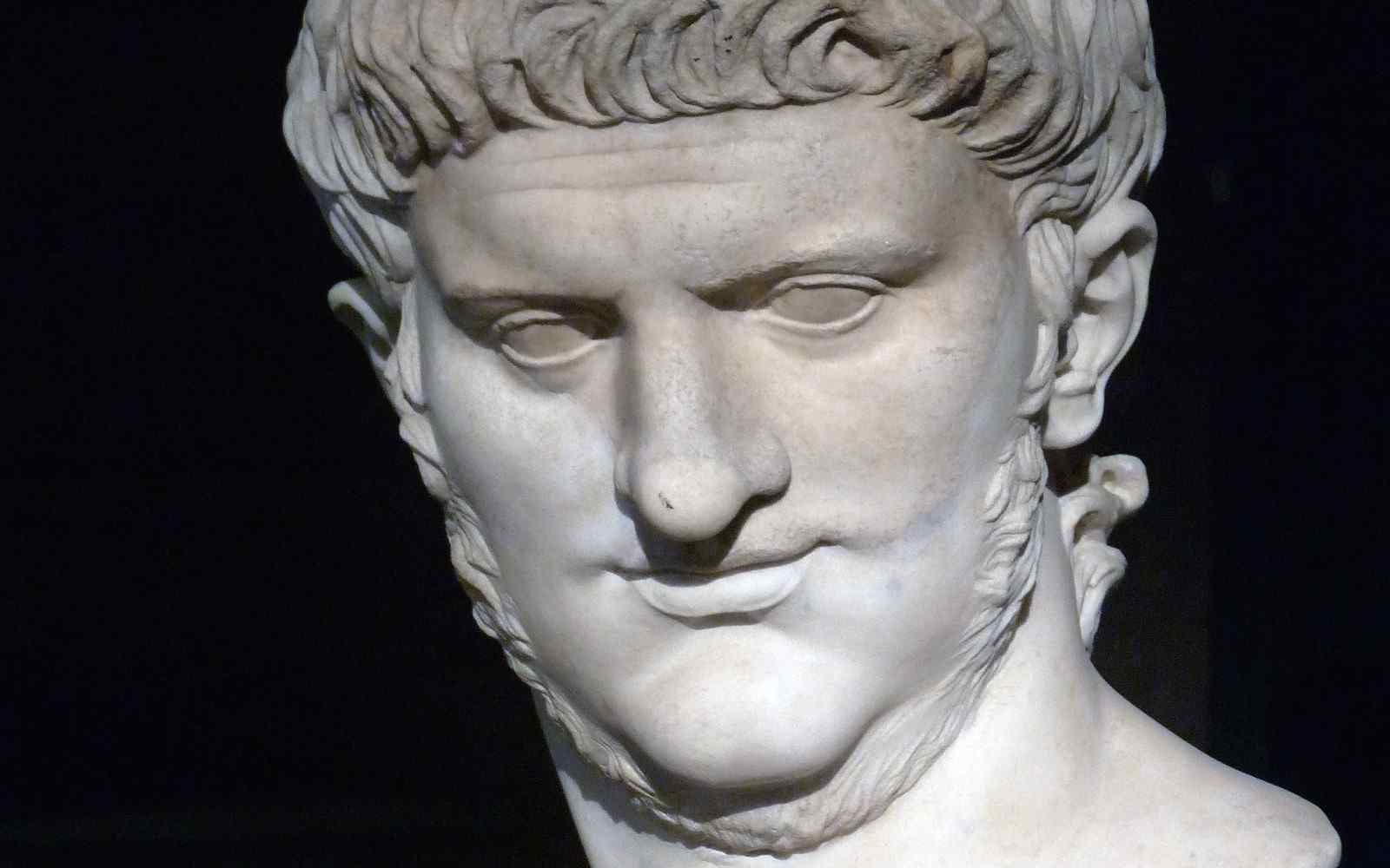 A marble bust of Emperor Nero