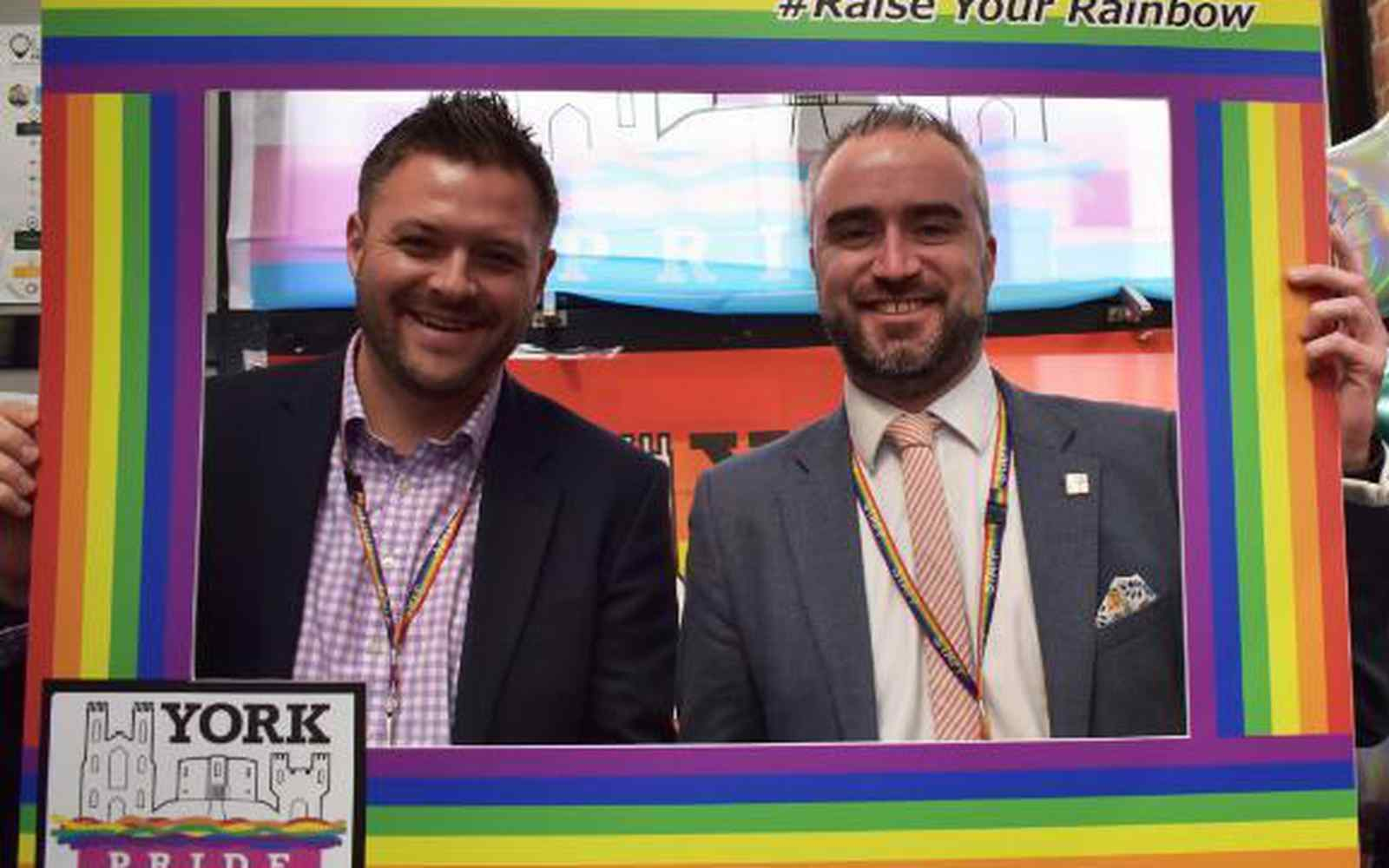 Rob Hickey and Phill Gray at York Pride launch
