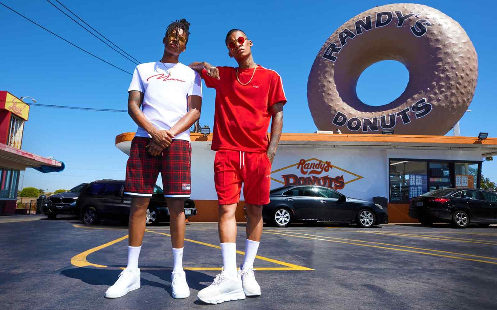 2 men in fashion sportswear