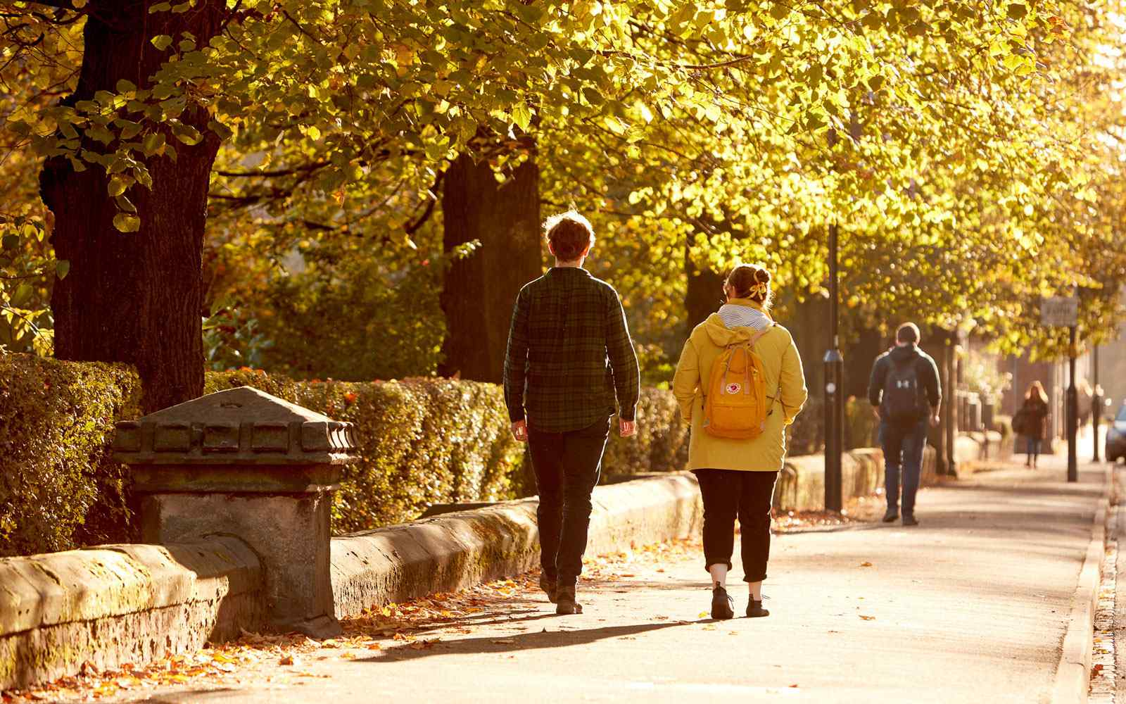 Walking down Lord Mayors walk