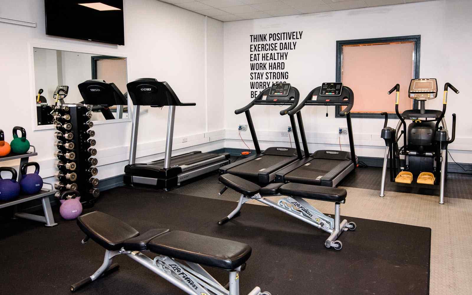 Treadmills in fitness suite