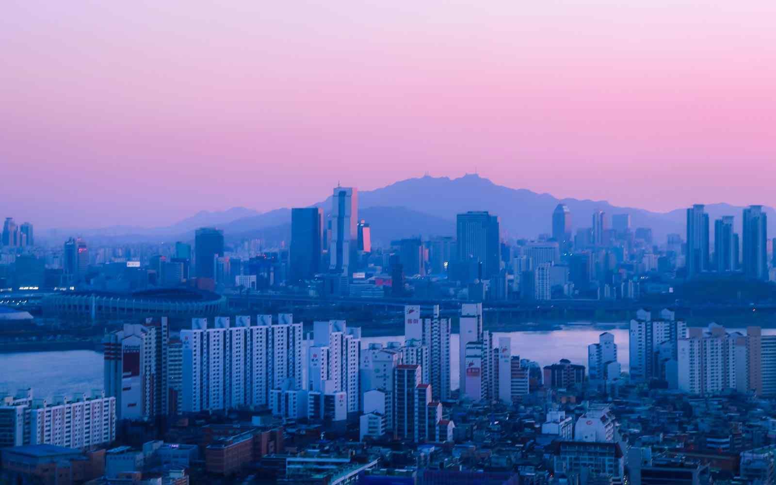 Skyline of Seoul Korea