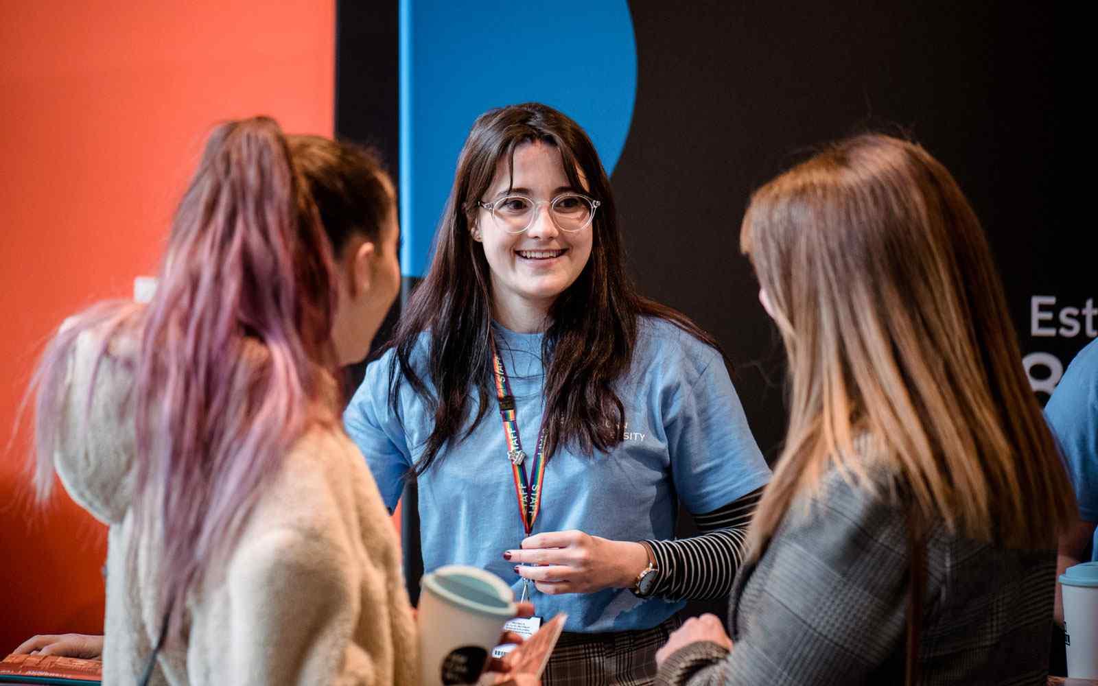 Student ambassador helping students