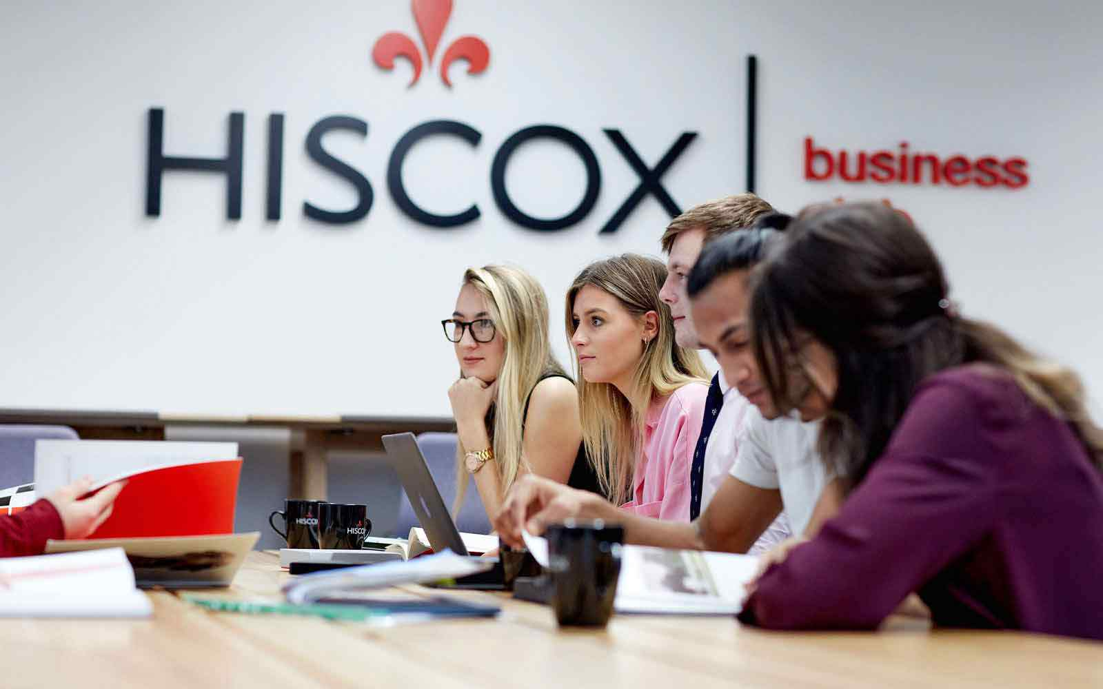 Students in workshop at Hiscox