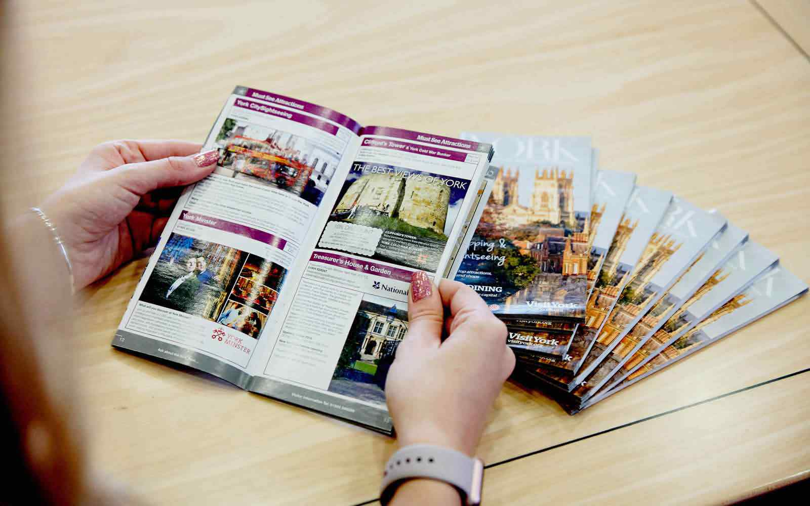 York tourist leaflets