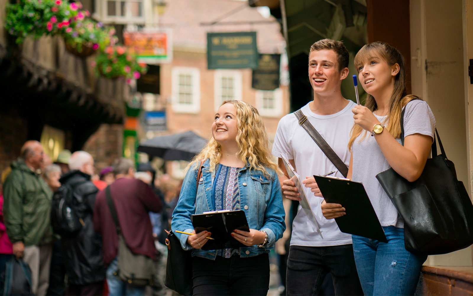 Students on the shambles