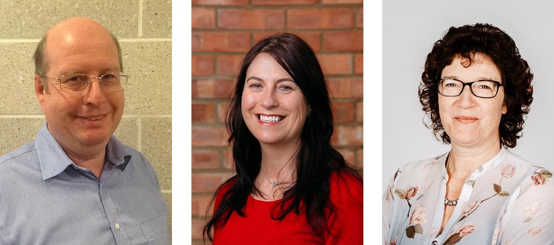 Images of Ian Staite, Annette Webb, Julia Payne