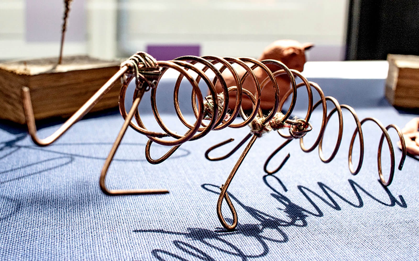 Wire model by art student