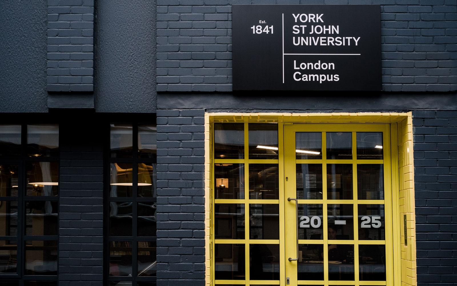 Entrance to the York St John University London Campus