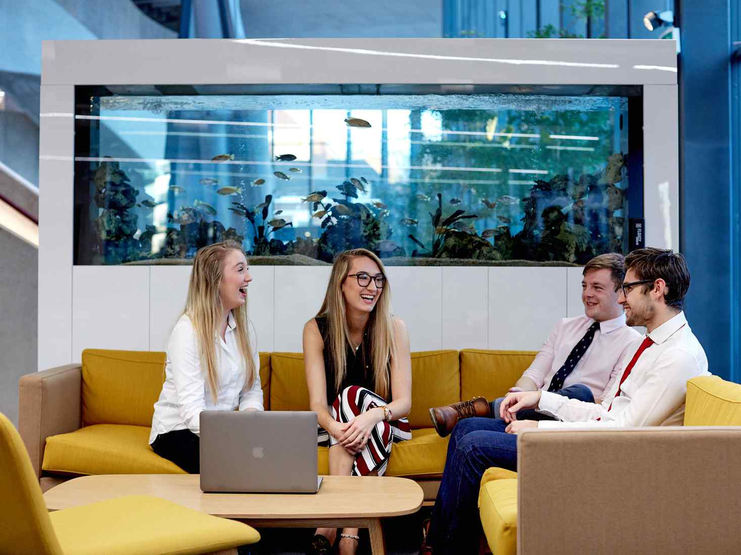 students at Hiscox for work experience