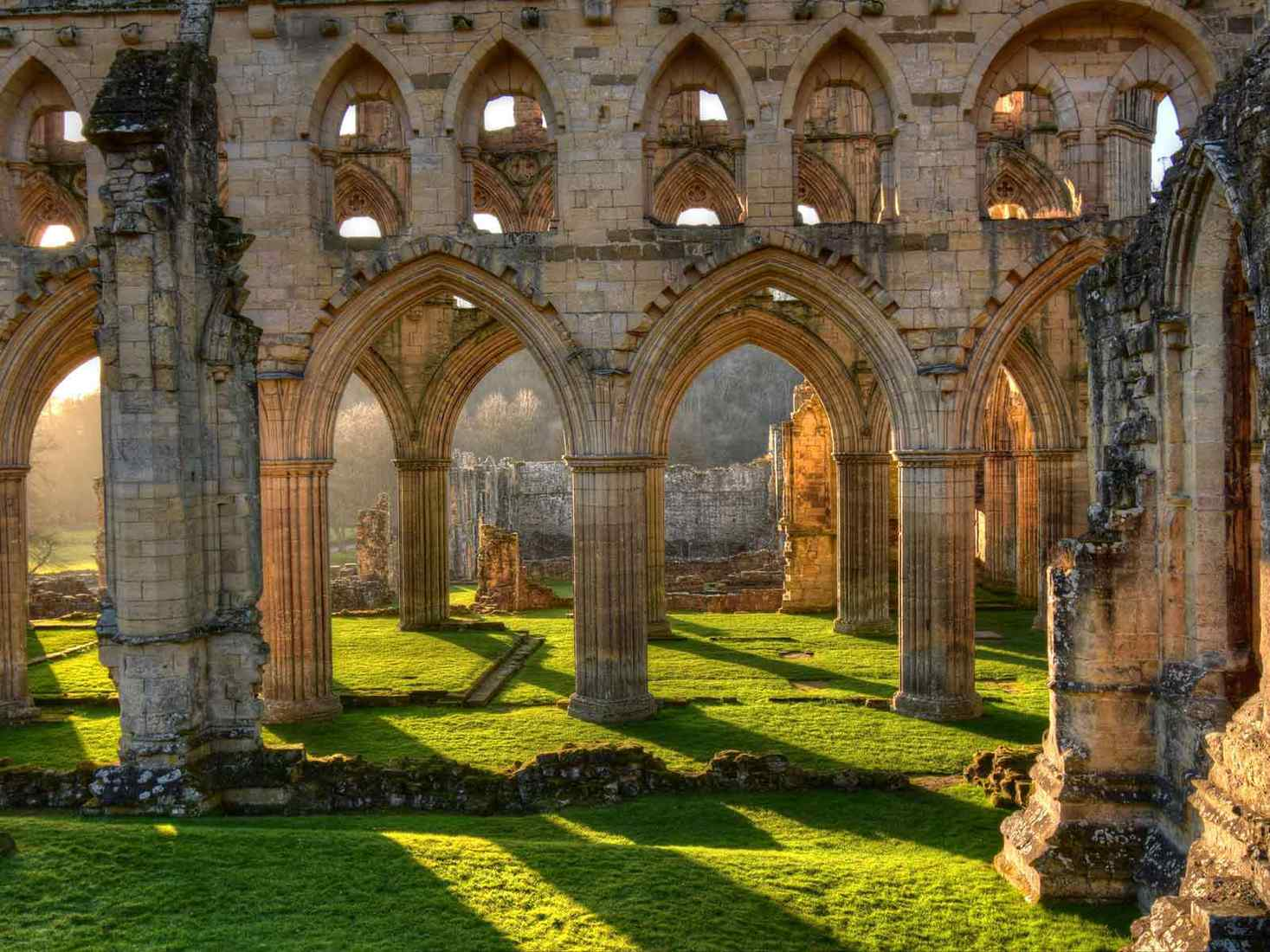 Ruins of an Abbey in sunshine