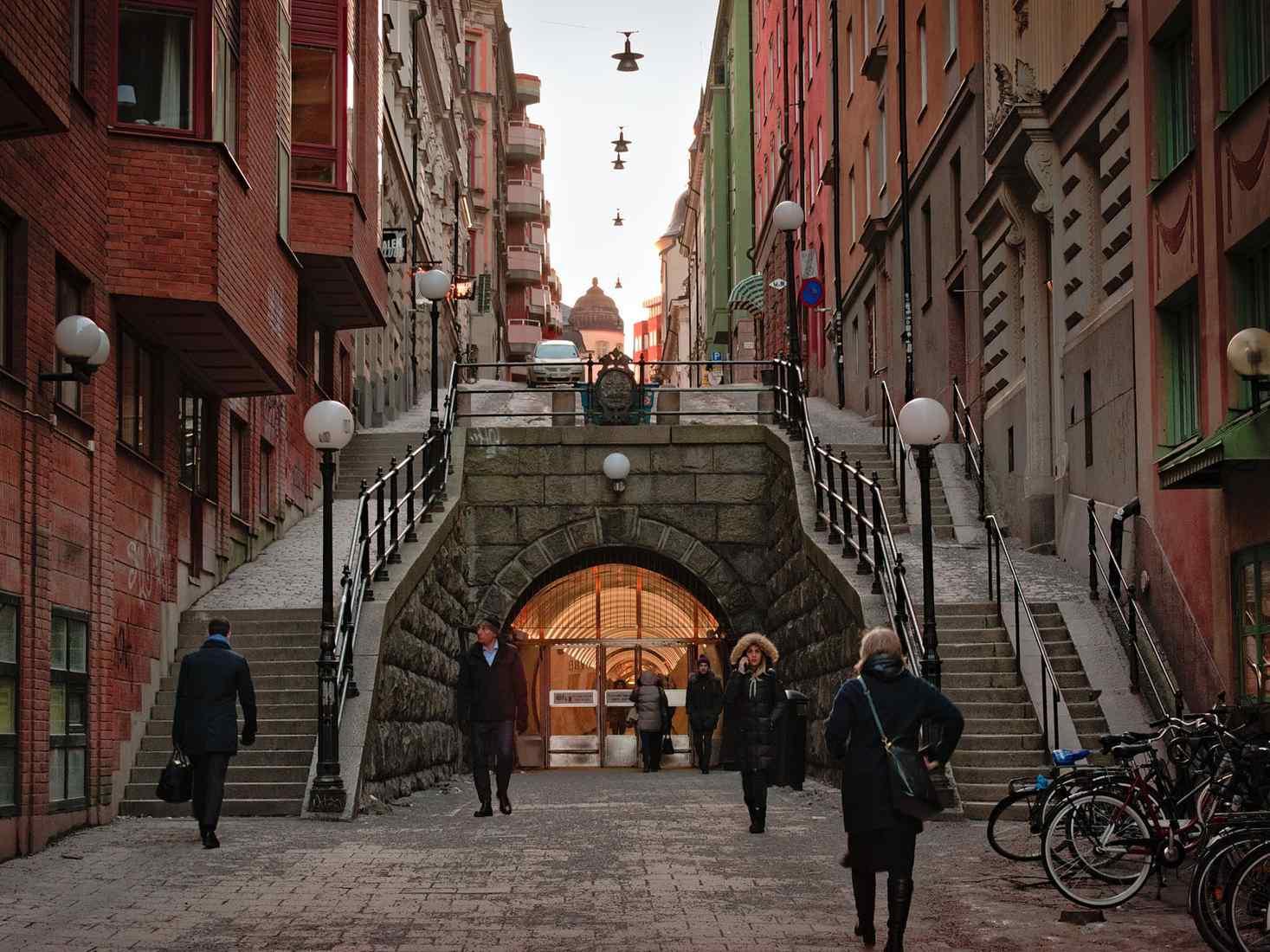 City centre in Stockholm, Sweden
