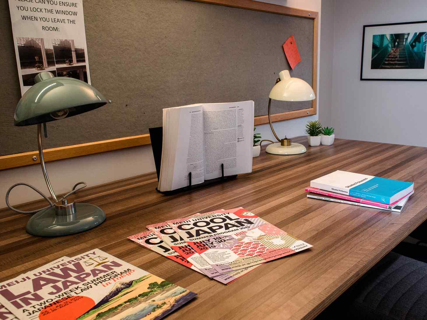 Japanese magazines on table