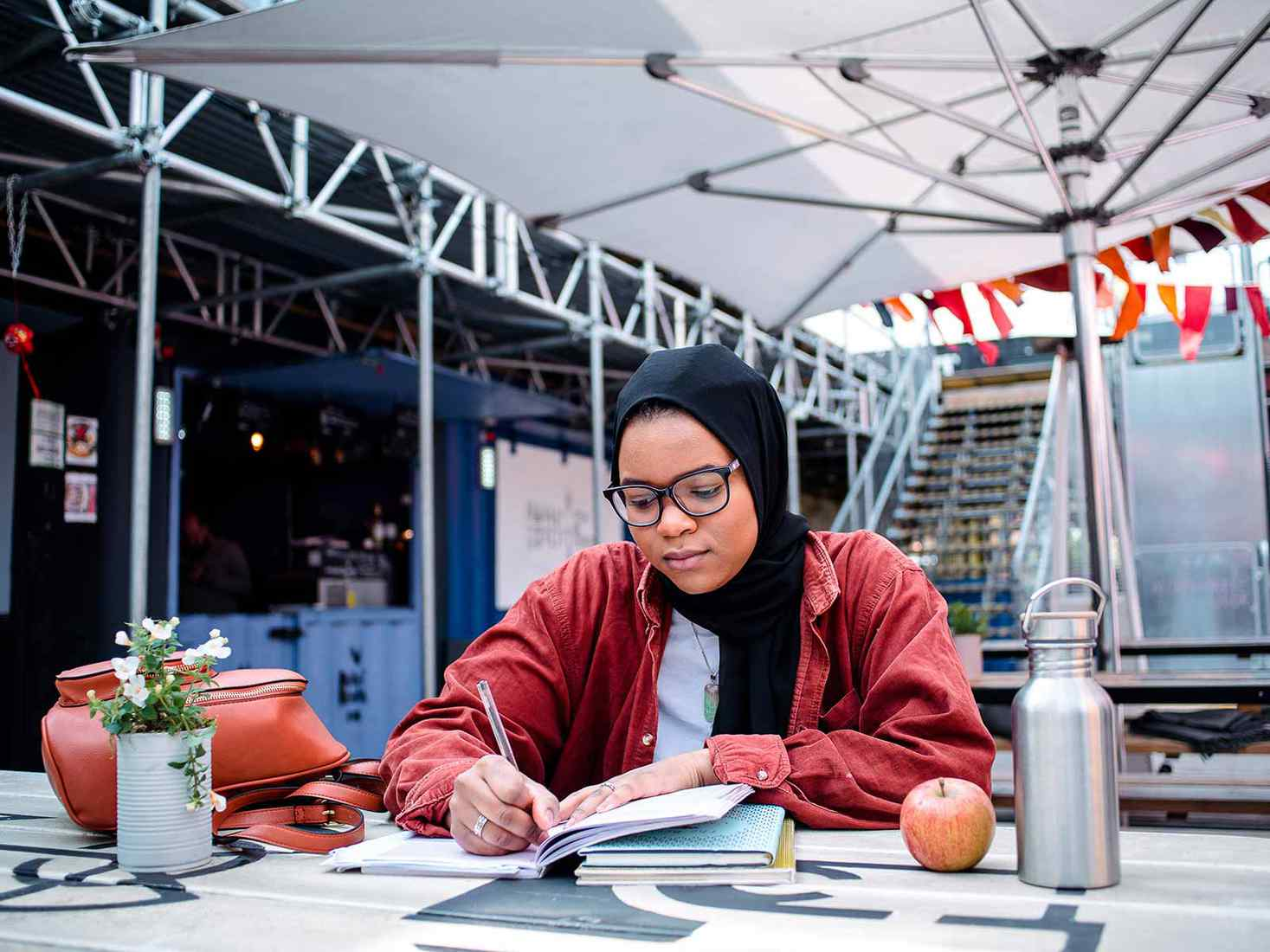 student reading in Spark York