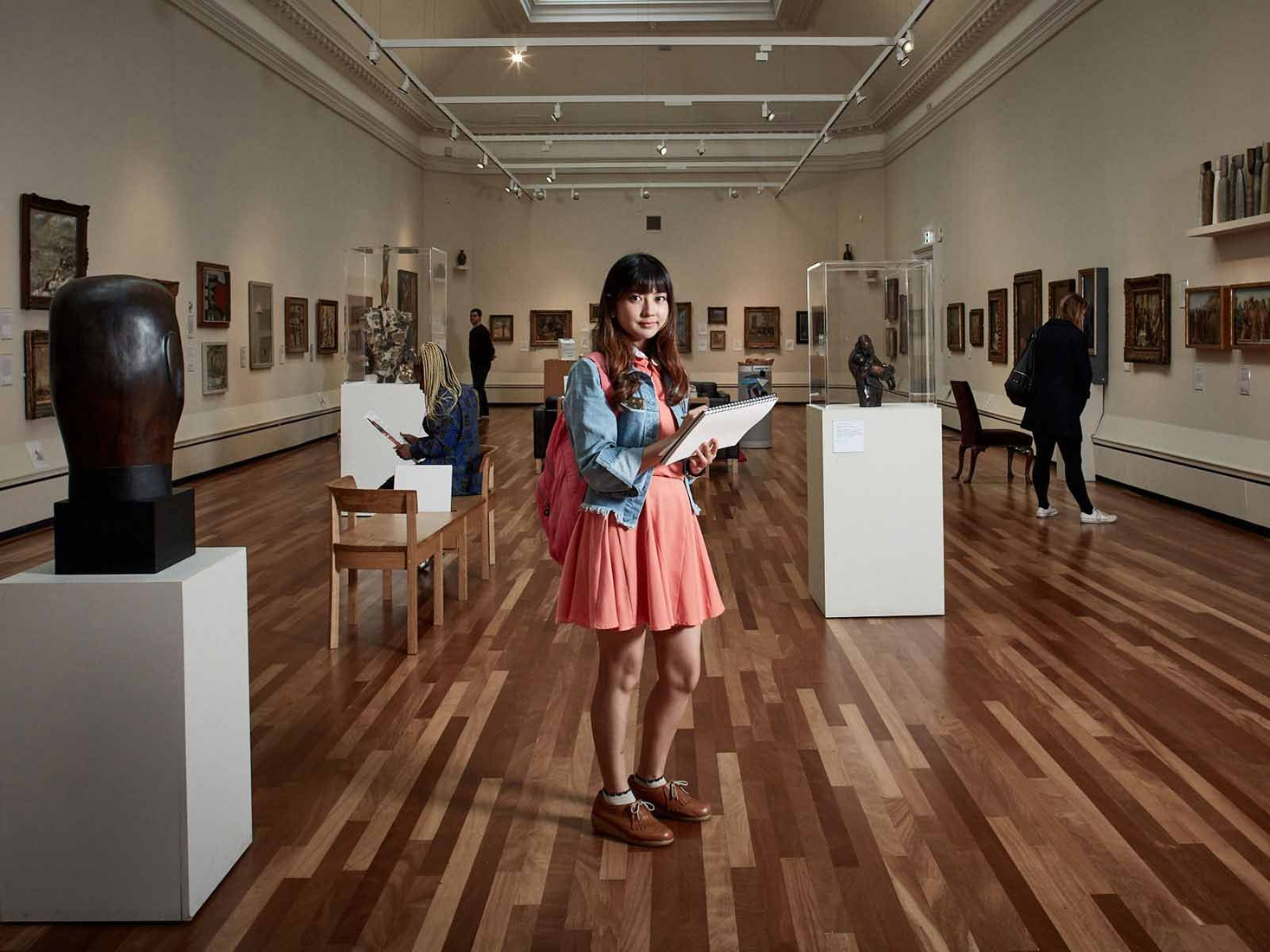 Student working at the York Art Gallery