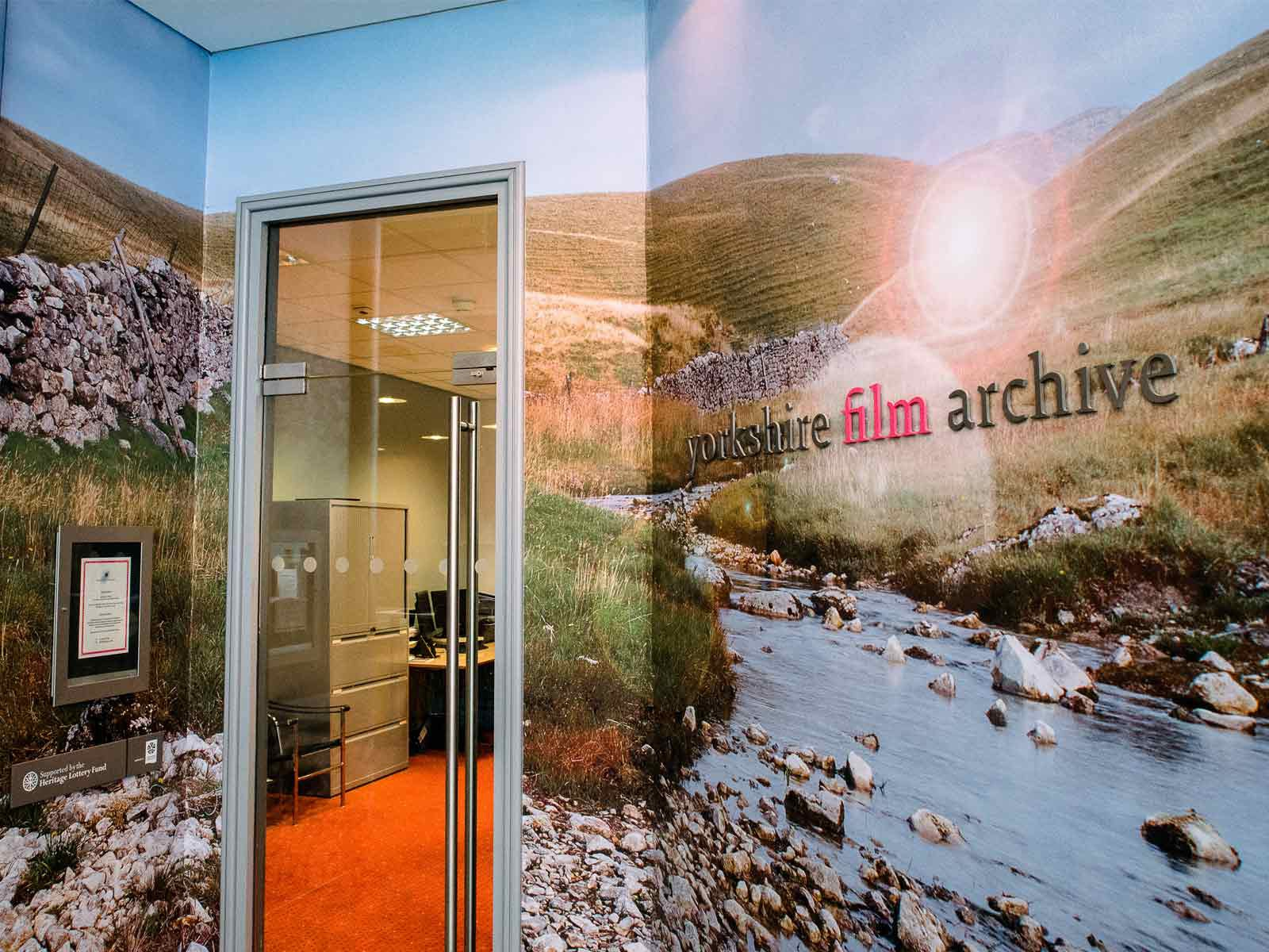Doorway to a film archive