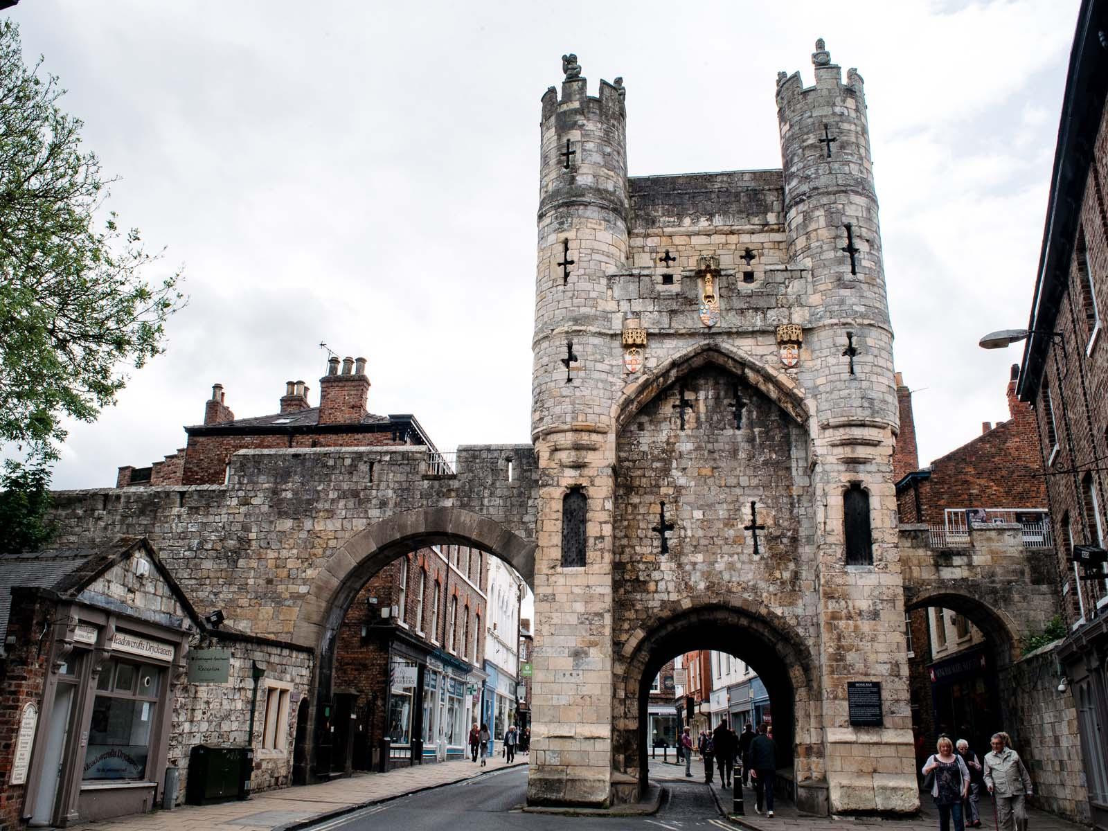 Historic buildings in York city centre