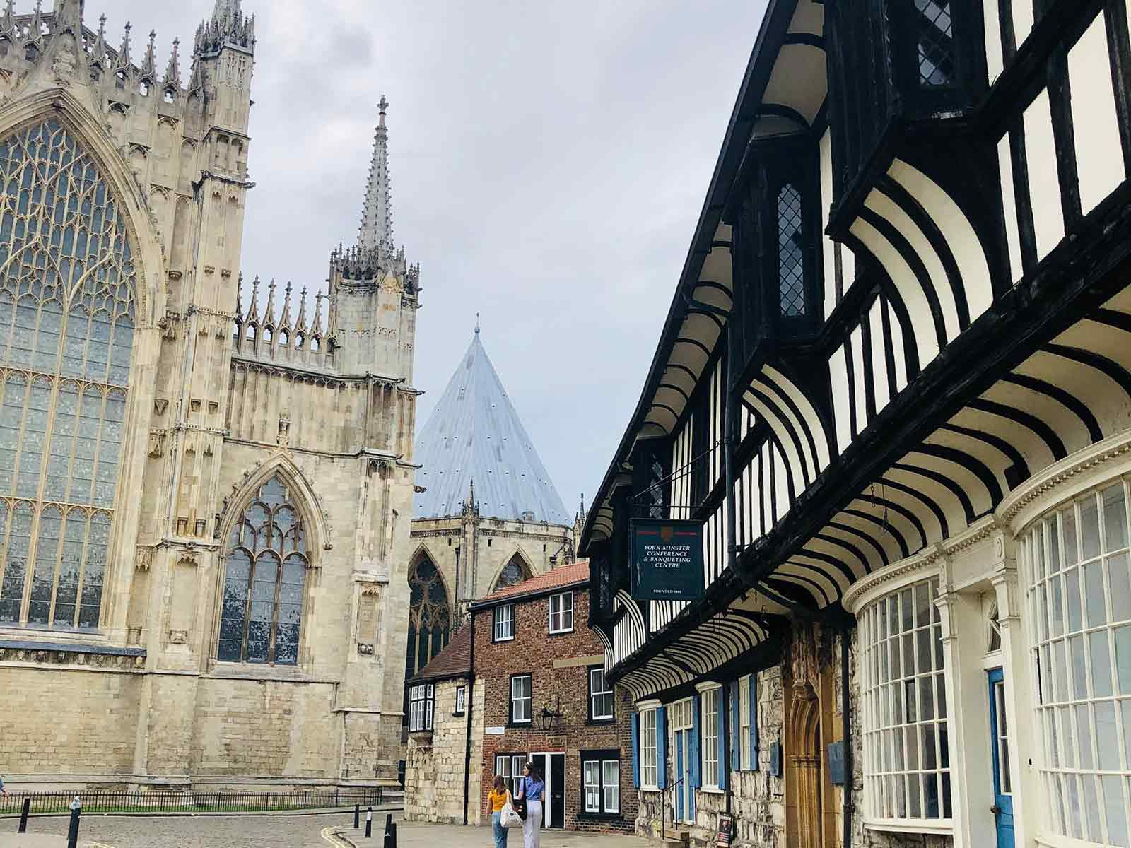 high angle shot of York Minster
