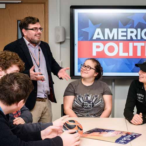 Students in American studies seminar