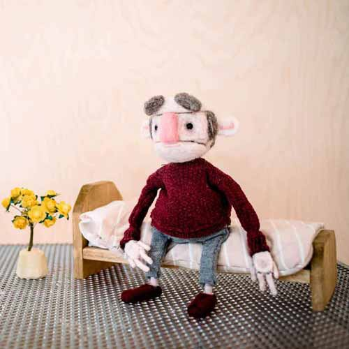 Stop motion animation figure