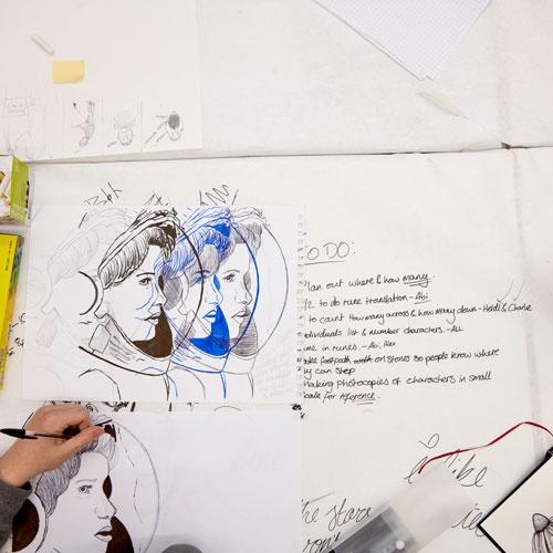 Student artwork drawing