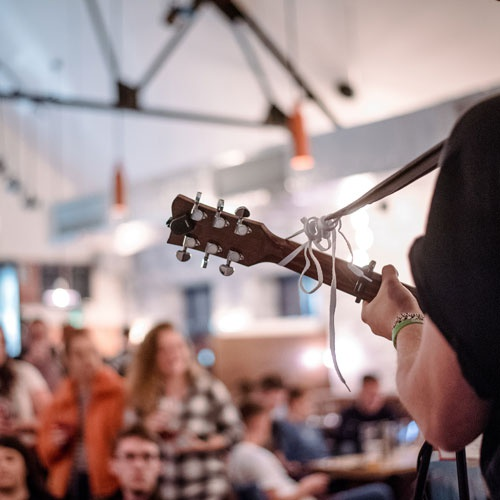 Live music event in the Students' Union